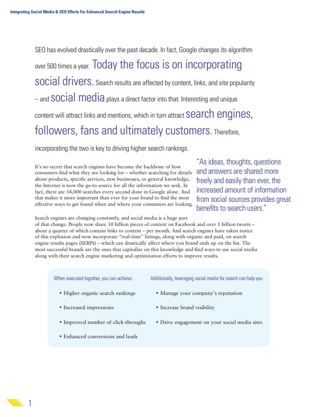integrating social media and SEO excerpt
