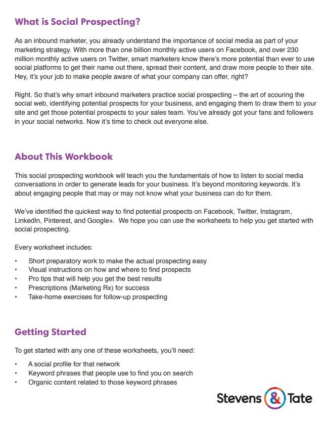 social prospecting workbook excerpt