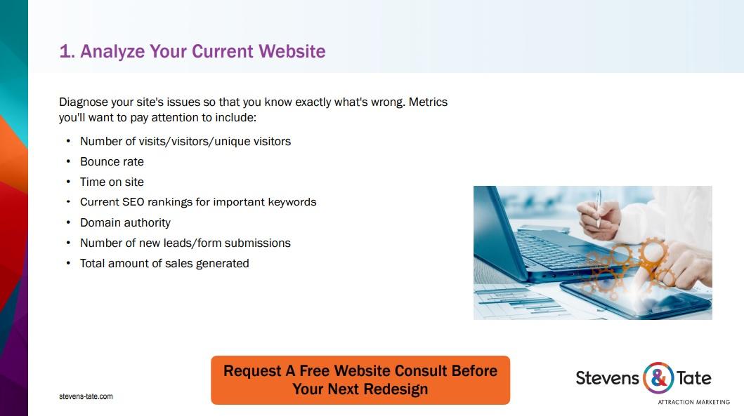 website redesign checklist excerpt